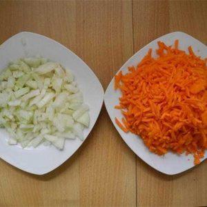 Лук и морковь ингредиенты соуса